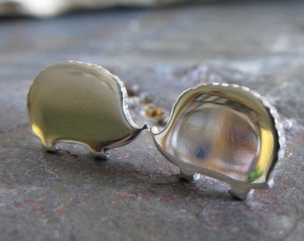 Hedgehog stud earrings. Sterling silver, 14k gold filled or solid 14k gold. Minimalist posts. Animal lover. Porcupine. Gift for her.