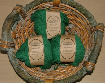 Cascade Yarns Key Largo Made in Peru Color No 1004 Lot No 593 Teal Persian Green Crochet Knit