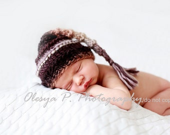 Download PDF knitting pattern k-24 - Newborn Elf hat with tassel