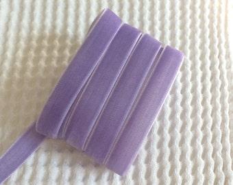 3 Yards Iris Purple Velvet Ribbon 3/8 inch - 43