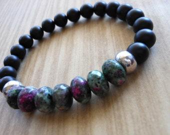 Eudialyte Mala Bracelet, Healing & Balancing, Mala Bracelet, Yoga, Buddhist, Meditation, Prayer Beads