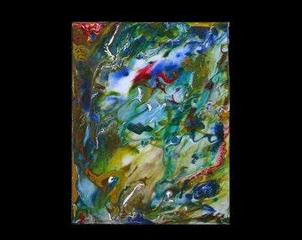 Original Art, Abstract, Art Under 100, Trending Now, Etsy Paintings, Modern,Contemporary, Karina Keri-Matuszak, Drip Painting, small space