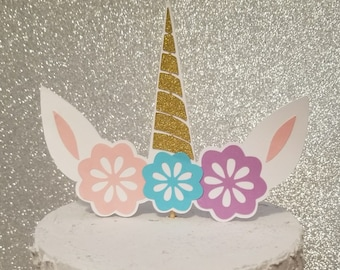 UNICORN CAKE TOPPER Unicorn Horn Topper Unicorn Birthday Unicorn Party Unicorn Decorations Unicorn Princess Unicorn Cupcake