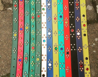 one off custom studded belt  Size is Open !!!!!!New!!!!!!!!!!!!!