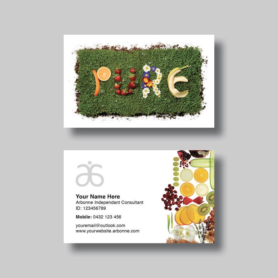 Arbonne Business Card Pure Digital Design