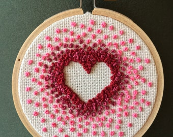 "Gradient Ombre 3"" Heart Embroidery"