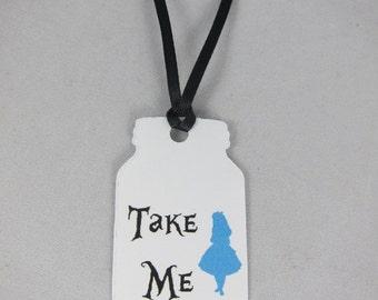 Alice in Wonderland,Alice in Wonderland Tags, Bottle Tags, Take Me, Drink Me, Set of 20 Alice in Wonderland  take me tags party decoration