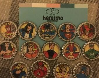 DC Comics Justice League of America Classic Pinbacks Line