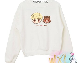 Suga and Demi // BTS Kpop Crewneck Sweatshirt (Design by Kei-Pure)