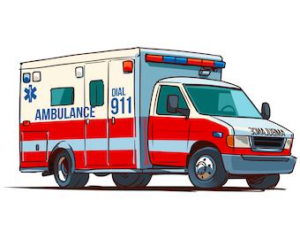 ambulance clip art etsy rh etsy com ambulance clipart png ambulance clipart black and white