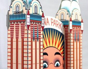 Luna Park face paper model