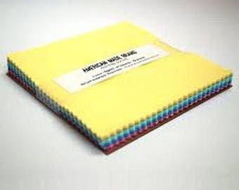 """American Made 5"""" Pastels Solid Squares from American Made Fabrics"""