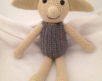 Dobby, Harry Potter inspired Dobby, Dobby doll, crochet Dobby Amigurumi doll, Dobby the house elf, crochet Harry Potter Dobby, Dobby plush