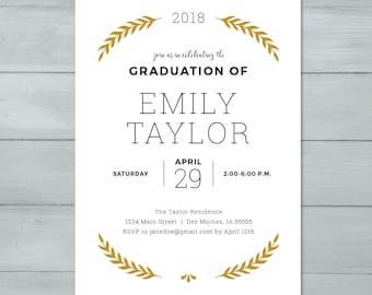 Graduation Invite  |  Graduation Party Invitation  |  Grad Invite
