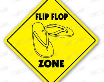 FLIP FLOP ZONE Sign xing gift novelty beach shoes thongs flipflop sandals