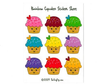 Cupcake Sticker Sheets