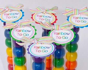Rainbow To Go Tags