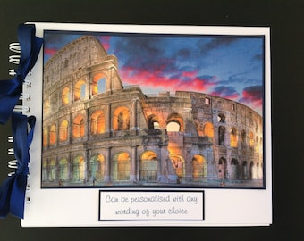 "Personalised ROME / ITALY Holiday Travel Photo Album - Scrapbook - Memories Book - Photo Book 10"" x 8"""