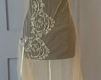 1920s Asymmetric Beaded Net Flapper Dress - True Vintage Fashion