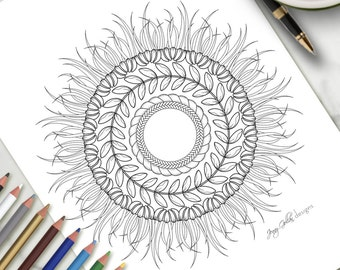 Printable Colouring Page Wild Boho