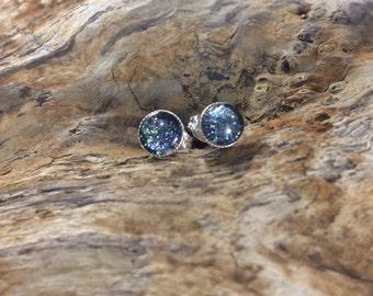 Stardust Stud Earrings Black