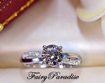 Man Made Diamond Engagement Promise Rings Under by FairyParadise