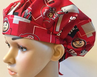 61d31cc536587 ... czech ohio state womens surgical scrub hat bouffant style ohio state  buckeyes osu e0ac1 26043