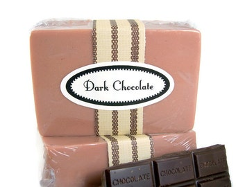 Dark Chocolate Soap Bar, Handmade Chocolate Scented Soap