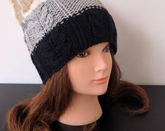 Women wool Cat hat – Cat ear hat – Cat beanie – ARISTOC'ATS hat for women - Knit hat – Cat hat for women - Wool hat - Beanie for women - Hat