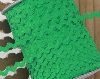 Ribbon 6mm Green zigzag * 2 meter serpentine sewing scrap-12