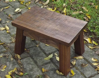 "Solid/ walnut/ rustic/ farmhouse stool/ foot stool/ step stool 8"" - 10"" h"