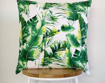 Tropical Banana Leaf print cushion cover