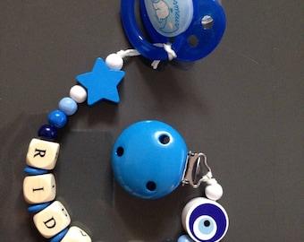 Personalized pacifier - boy name Blue pacifier: Rıdvan