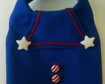Dog Collar Harness  Sailor vest Nautical Patriotic for your Chihuahua Yorkie ShihTzu Pomeranian