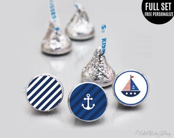 Personalized Hershey Kisses Stickers Template Bahuma Sticker