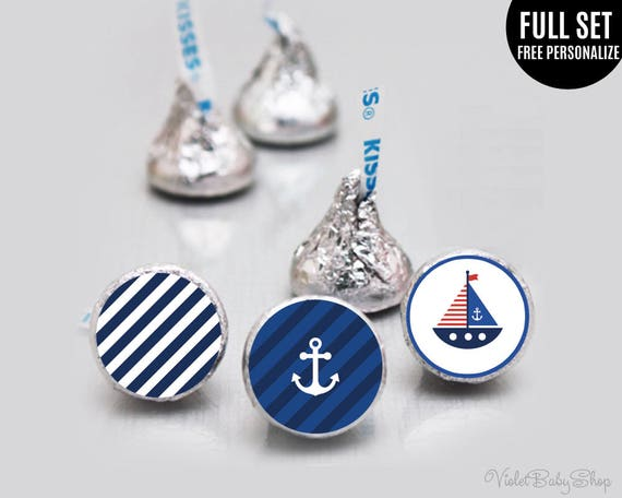 Hershey kisses Sticker Template. Printable Hershey kisses