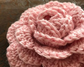 Cottage rose crochet embellishment