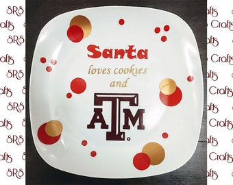 Aggie - Santa Loves Cookies and ATM plate