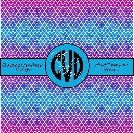 Ombre Quatrefoil Patterned Vinyl // Patterned / Printed Vinyl // Outdoor and Heat Transfer Vinyl // Pattern 693