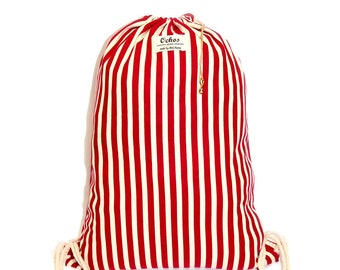 Ochos | Red Stripes Sack Bag