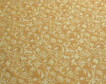 Yellow Flowered Cotton Fabric