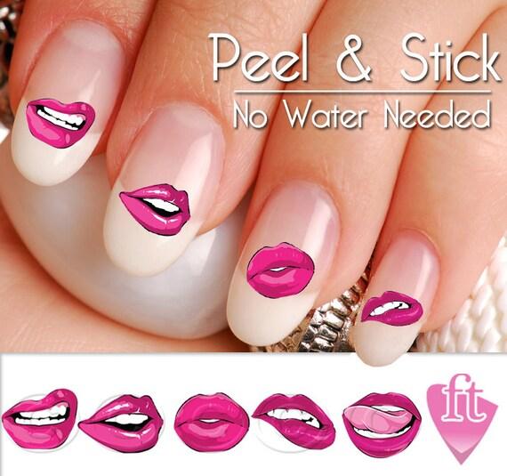 Lips And Kisses Smooches Nail Art Decal Sticker Set