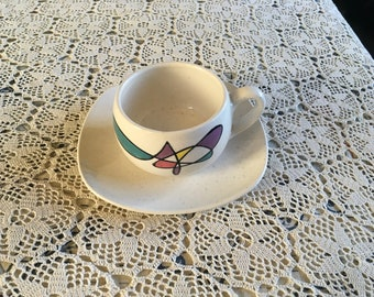 Metlox-Poppytrail California Freeform Cup and Saucer