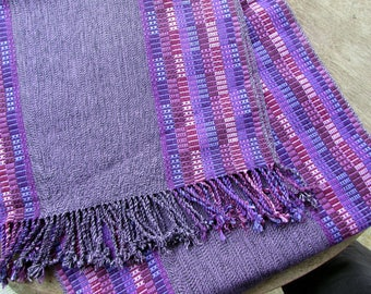 Guatemalan Hand Woven Textile Natural Dyes in Shades of Purple