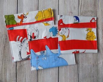 Dr Seuss reusable snack bags