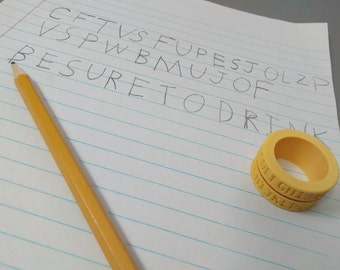 Caesar Cipher Decoder Ring (set of 2)