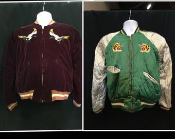 "Rare vintage original 1950s goose bay tour of duty jacket ""reversible"""