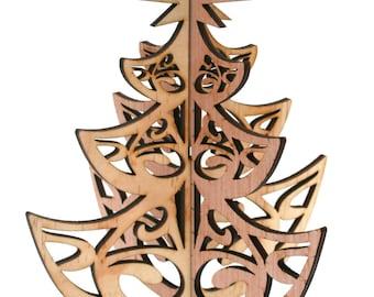 Découpé au laser décoration rustique bois sapin de Noël
