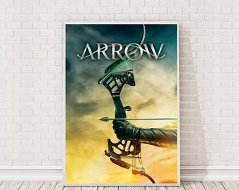 Arrow Poster Art Film TV Poster Classic Movie Poster Cult Vintage Prints