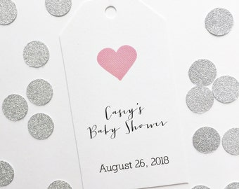 Baby Shower Tags, Customized Baby Shower Tags, Custom Favor Tags  (MLT-044)